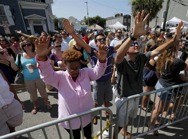 PHOTO CREDIT: NBC News - A vigil in Charleston