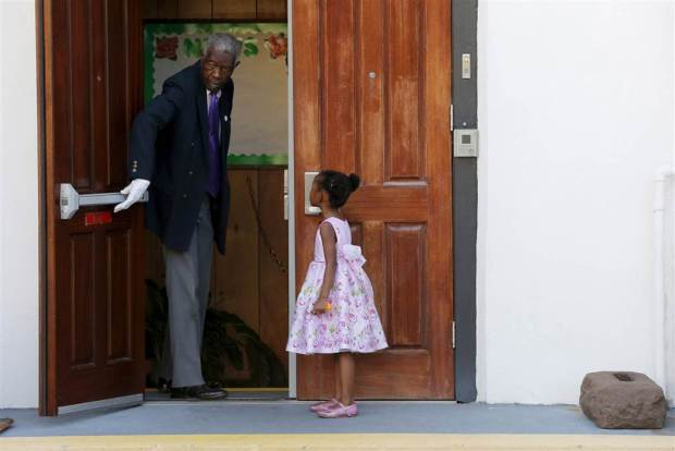 PHOTO CREDIT: Brian Snyder (Reuters) - Emanuel AME Church in Charleston the Sunday after the shooting